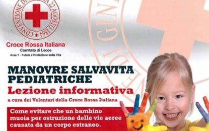 Giovedì nell'Asilo Nido comunale di Salice Salentino una lezione informativa sulle manovre salvavita pediatriche