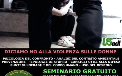 """Veglie, giovedì l'associazione sportiva """"I Cinque Anelli"""" organizza un seminario gratuito per dire NO alla violenza sulle donne"""