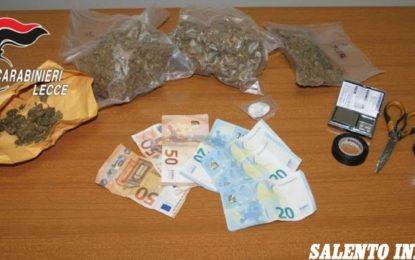 Cocaina e marijuana in casa, in manette una 21enne ed un 27enne di Leverano