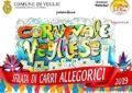 Domani pomeriggio ed il 3 marzo tornano i colori del Carnevale Vegliese