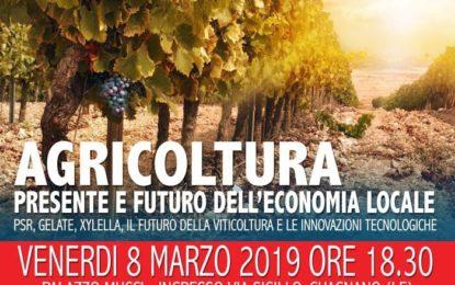 """Venerdì a Palazzo Mucci si terrà il convegno """"Agricoltura, presente e futuro dell'economia locale"""""""