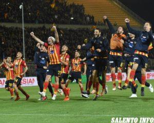 US Lecce, i giallorossi battono il Brescia e si portano ad un passo dalla Serie A
