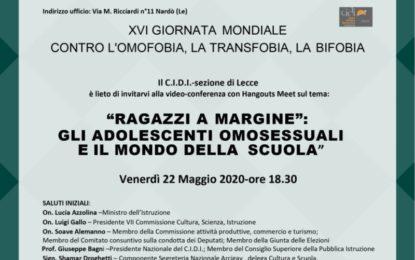 """""""Ragazzi a margine"""": gli adolescenti omosessuali e il mondo della scuola"""